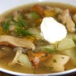 Грибной суп по классическому рецепту приготовления