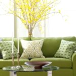 Учимся гармонично использовать оливковый цвет в интерьере комнаты